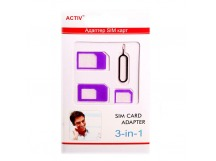 Адаптер для SIM адаптер Activ 3 в 1 (nano/micro/mini) (purple)