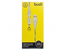 Кабель USB - Multi connector budi M8J010 micro USB/lightning (100 см) (white)