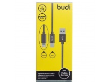 Кабель USB - Multi connector budi M8J175 micro USB/lightning (100 см) (black)